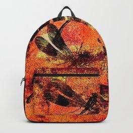 Black Dragonflies Backpack