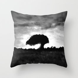 Exmoor Tree at Sunset Throw Pillow