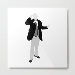First Doctor: William Hartnell Metal Print