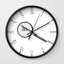 July Magnifying Glass Wall Clock