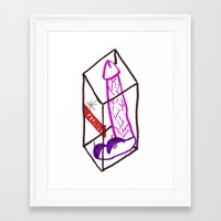 penis Framed Art Prints featuring Fragile (Penis in a Box) by FABIO MIGGIANO_H13