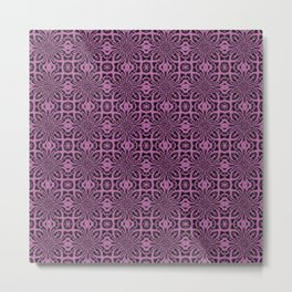 Bodacious Geometric Floral Abstract Metal Print