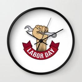 National Labor Day Wall Clock