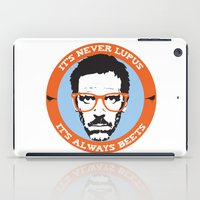 house md iPad Cases featuring HOUSE MD: IT'S NOT LUPUS, IT'S BEETS by MDRMDRMDR