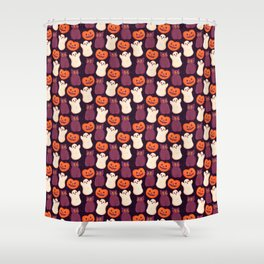 Halloween Marshmallows Shower Curtain