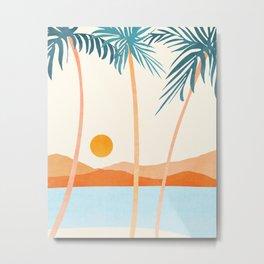 Palm Island / Minimalist Landscape Metal Print