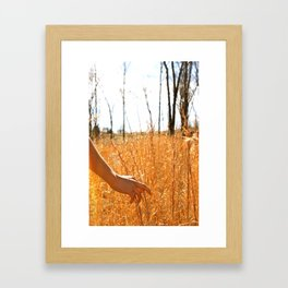 Hands Through Gold Framed Art Print