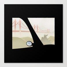 WINDOWS 006: THE BRIDGE Canvas Print