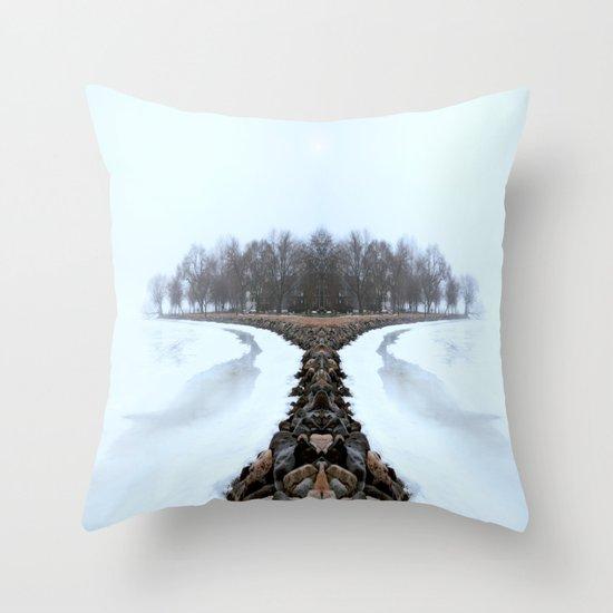 ManuIsland Throw Pillow