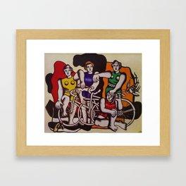 The Beautiful Cyclists by Fernand Léger Framed Art Print