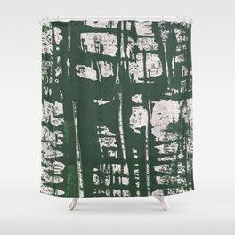 NYC Walls (zelen) Shower Curtain