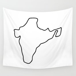 India Indian map Wall Tapestry