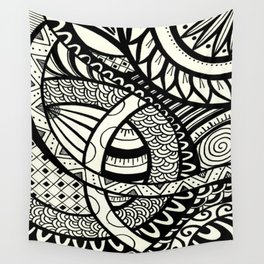 Zentangle design Wall Tapestry