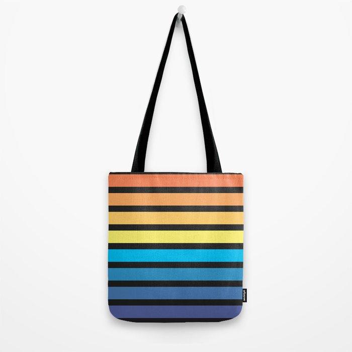 Stripe Sunset Tote Bag