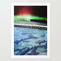 northern lights Art Prints featuring Northern Lights by John Turck