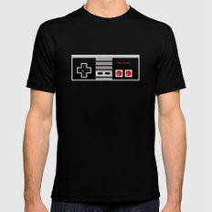 Nintendo Controller MEDIUM Black Mens Fitted Tee