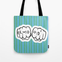 blues brothers Tote Bags featuring [ Blues Brothers ] Elwood Blues Dan Aykroyd by Vyles
