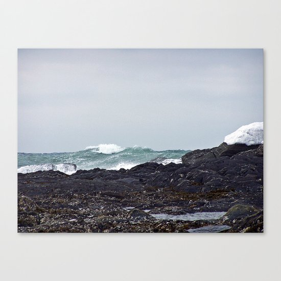 Late Winter Surf Canvas Print