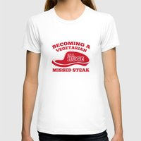 vegetarian T-shirts featuring Becoming A Vegetarian Is A Huge Missed Steak by AmazingVision
