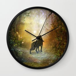 The lonely wolf Wall Clock