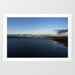 New Forth road bridge Art Print