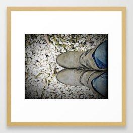 Lake Boots Framed Art Print