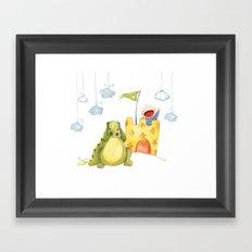 Baby castle Framed Art Print