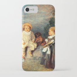 Heureux age, Age d'or Painting Artwork iPhone Case