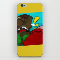 boxing iPhone & iPod Skins featuring Tiki Boxing by TEMOANA