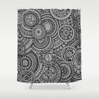 fibonacci Shower Curtains featuring Raindrops by Eurimos