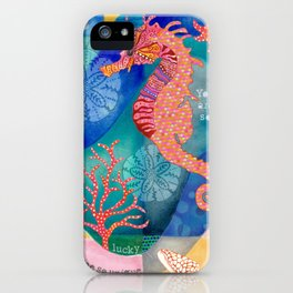 Seahorse collage iPhone Case