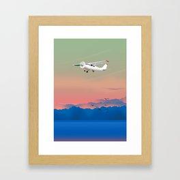 Prop plane Framed Art Print