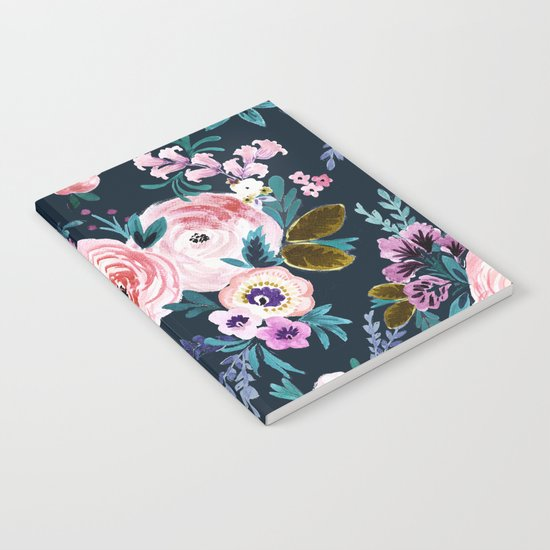 Moody Victoria Flower Notebook