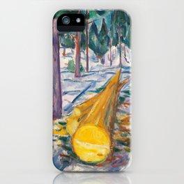 Edvard Munch - The Yellow Log, 1912 iPhone Case
