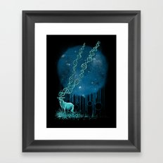 DNA Deer Framed Art Print