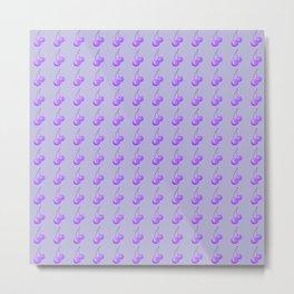 Purple Cherries Metal Print