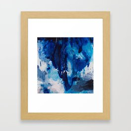 Beautiful Accidents (Blue Waterfall) Framed Art Print