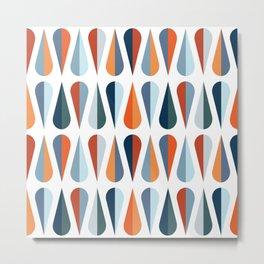 Colorful raindrops pattern Metal Print