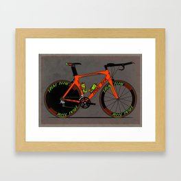 Time Trial Bike Framed Art Print