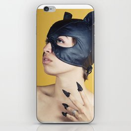 Leather Kitty iPhone Skin