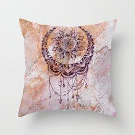 bohemian marble Throw Pillow