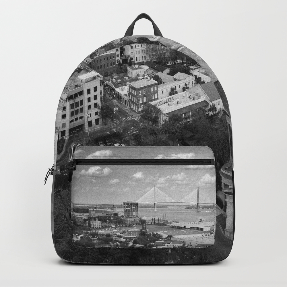 St Philips Black And White Backpack by Wanderthesky BKP7894319