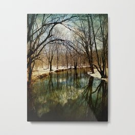 Spring Day at the Canal Metal Print
