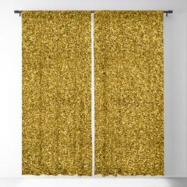 Gold Glitter Pattern Blackout Curtain