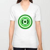 lantern V-neck T-shirts featuring American Lantern by Kramcox