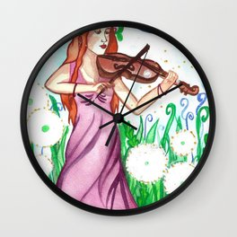 Fiddler and the Moon Wall Clock