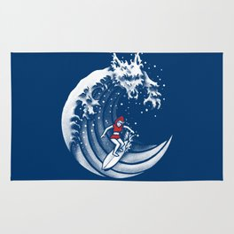 Little Red Surfing Hood Rug