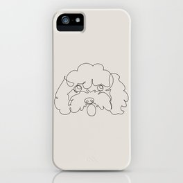 One Line Poodle iPhone Case