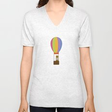 Llama in Air Balloon Unisex V-Neck