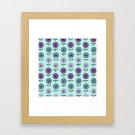 Atomic Age Flower Pattern 2 Framed Art Print